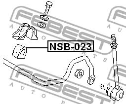 ВТУЛКА ПЕРЕДНЕГО СТАБИЛИЗАТОРА D25. Febest (NSB023)