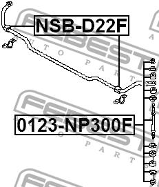 ВТУЛКА ПЕРЕДНЕГО СТАБИЛИЗАТОРА D23. Febest (NSB-D22F)