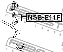 ВТУЛКА ПЕРЕДНЕГО СТАБИЛИЗАТОРА D22. Febest (NSBE11F)