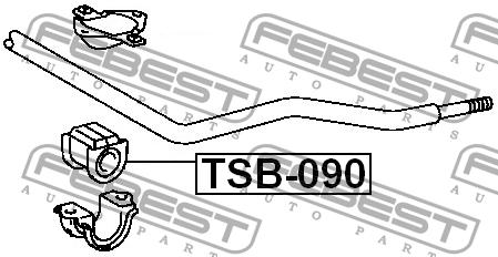 ВТУЛКА ПЕРЕДНЕГО СТАБИЛИЗАТОРА D26. Febest (TSB090)