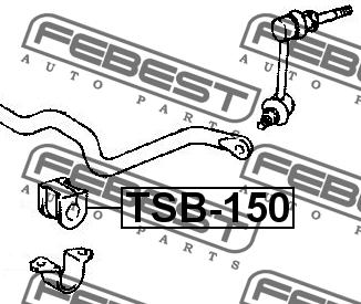 ВТУЛКА ПЕРЕДНЕГО СТАБИЛИЗАТОРА D26.5. Febest (TSB-150)