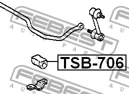 ВТУЛКА ЗАДНЕГО СТАБИЛИЗАТОРА D13. Febest (TSB706)