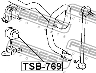 ВТУЛКА ПЕРЕДНЕГО СТАБИЛИЗАТОРА D21. Febest (TSB-769)