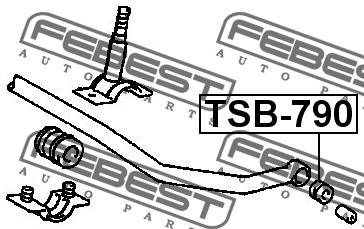 ВТУЛКА ПЕРЕДНЕГО СТАБИЛИЗАТОРА D14. Febest (TSB-790)