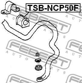 ВТУЛКА ПЕРЕДНЕГО СТАБИЛИЗАТОРА D22. Febest (TSBNCP50F)