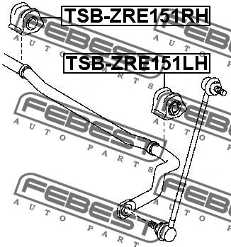 ВТУЛКА ПЕРЕДНЕГО СТАБИЛИЗАТОРА ПРАВАЯ D23.2. Febest (TSB-ZRE151RH)