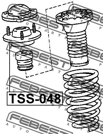 ОПОРА ЗАДНЕГО АМОРТИЗАТОРА. Febest (TSS-048)