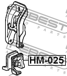 ПОДУШКА ДВИГАТЕЛЯ ПЕРЕДНЯЯ MT. Febest (HM-025)