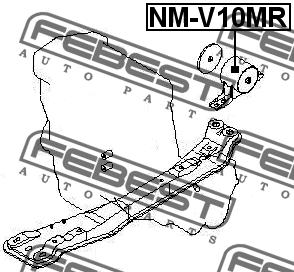 ПОДУШКА ДВИГАТЕЛЯ ЗАДНЯЯ MT. Febest (NM-V10MR)