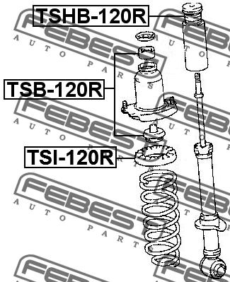 ПРОСТАВКА ПРУЖИНЫ. Febest (TSI120R)