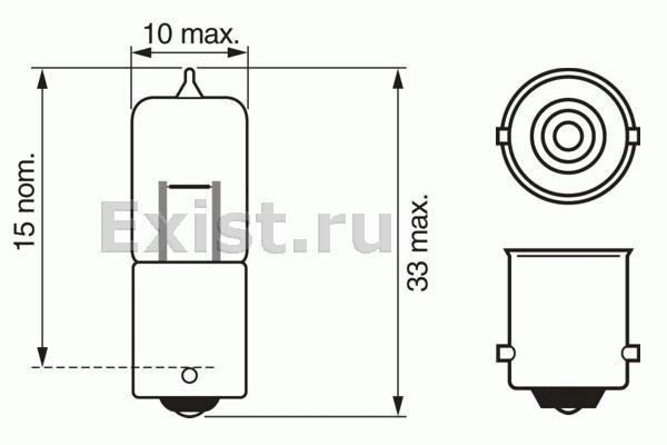 ЛАМПА 12V 20W PURE LIGHT (коробка/10шт) кр.10. Bosch (1987302245)