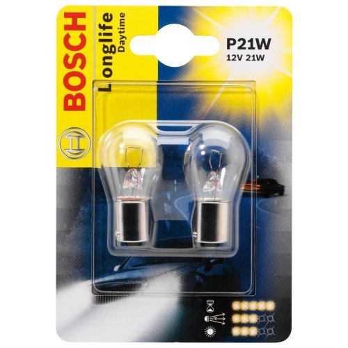 ЛАМПА P21W 12V LONGLIFE DAYTIME (блистер/2шт комплект). Bosch (1987301050)