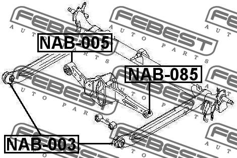 САЙЛЕНТБЛОК ЗАДНЕГО РЫЧАГА. Febest (NAB-085)