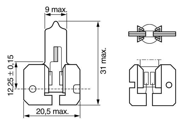 ЛАМПА H2, 24V 70W X511 TRUCKLIGHT (коробка/1шт) СНЯТ. Bosch (1987302422)