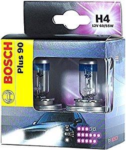 ЛАМПА H4 12V 60/55W Plus 90 (box / 2шт.). Bosch (1987301074)