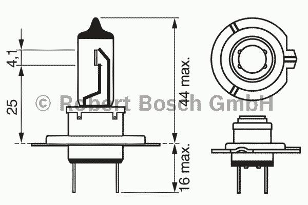 ЛАМПА H7 12V 55W Plus 90 (блистер/1шт). Bosch (1987301078)
