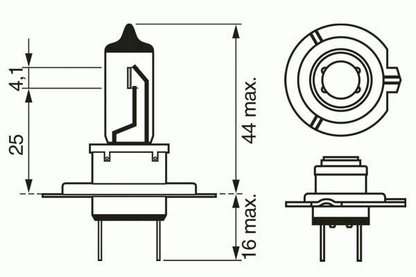 ЛАМПА H7 12V 55W Plus 50 (коробка/1шт). Bosch (1987302079)