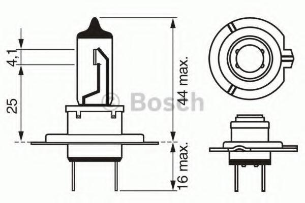 ЛАМПА H7 12V 55W Xenon Silver (блистер/1шт). Bosch (1987301069)