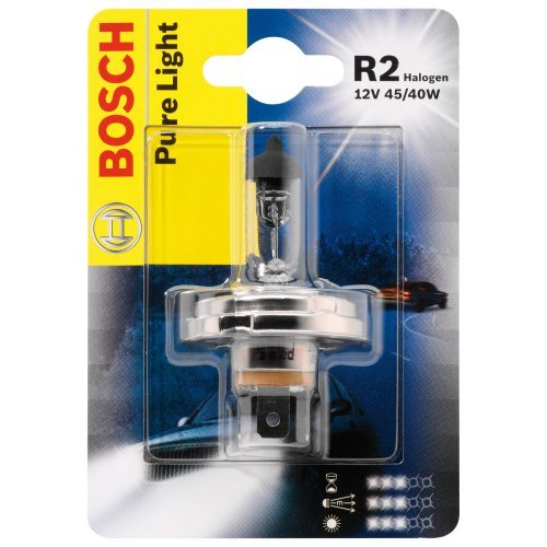 ЛАМПА R2 12V 45/40W HALOGEN PURE LIGHT P45t (блистер/1шт). Bosch (1987301021)