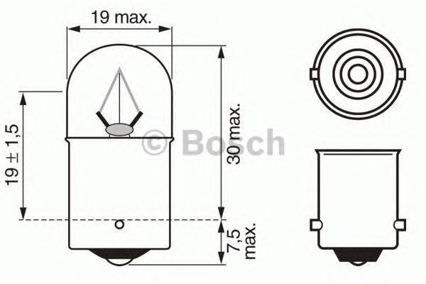 ЛАМПА R5W HEAVY DUTY замена на 1987302704. Bosch (1987302511)