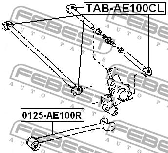 САЙЛЕНТБЛОК ЗАДНЕЙ ТЯГИ. Febest (TAB-AE100CL)