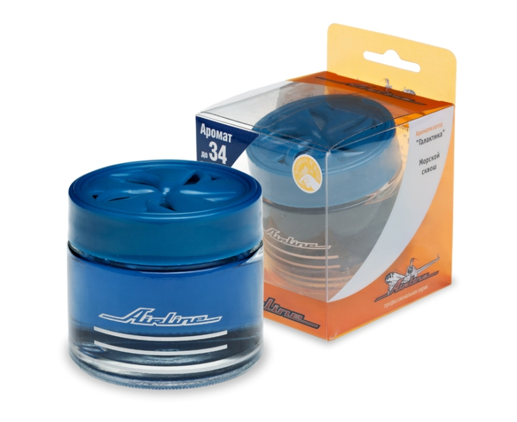 Ароматизатор банка  Галактика  морской сквош (синий цвет) AF-A01-SM. AIRLINE (AFA01SM)