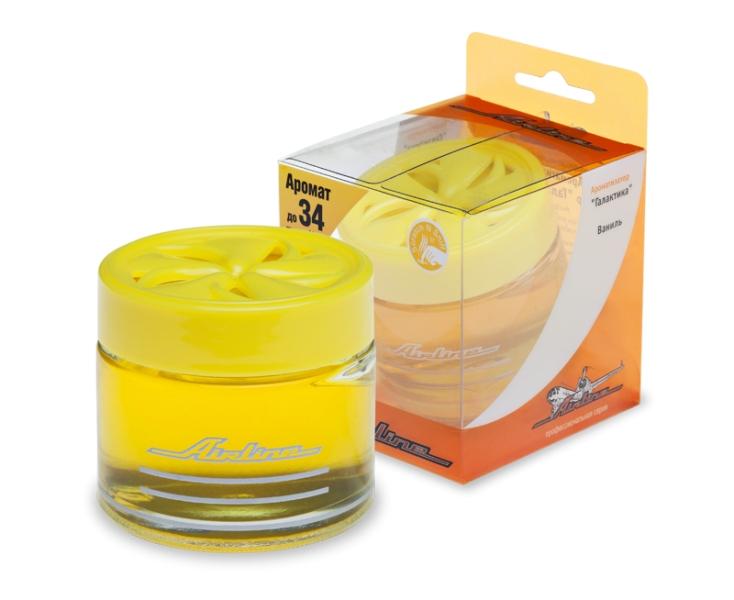 Ароматизатор банка  Галактика  ваниль (желтый цвет) AF-A01-VA. AIRLINE (AFA01VA)