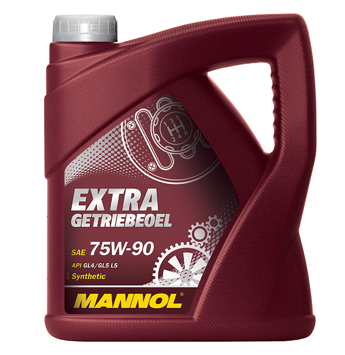 Extra GL-5 75W/90 синт. транс. масло (4л). MANNOL (4036021404707)