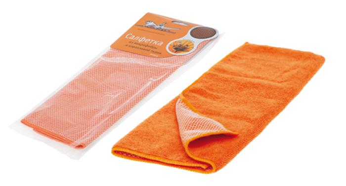Салфетки из микрофибры и коралловой ткани (оранж) 35х40см AB-A-04. AIRLINE