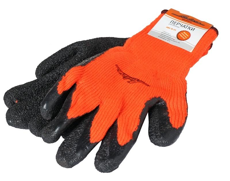 Перчатки утепленные с латексным покрытием AWG-W-05. AIRLINE (AWGW05)