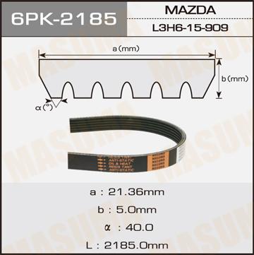 Ремень ручейковый MASUMA 6PK-2185