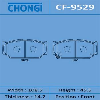 Колодки дисковые CHONGI AN-706WK front. (CF-9529)