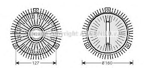 Вискомуфта вентилятора MSC453. Ava