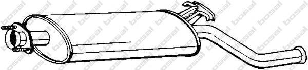 Глушитель задняя часть 215-211. Bosal