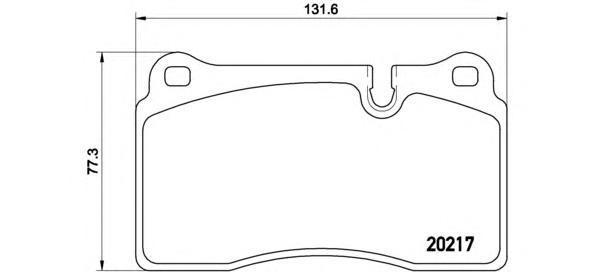 Колодки тормозные P44018. Brembo