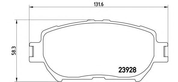Колодки тормозные P83062. Brembo