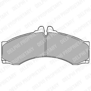 Тормозные колодки LP1046. Delphi