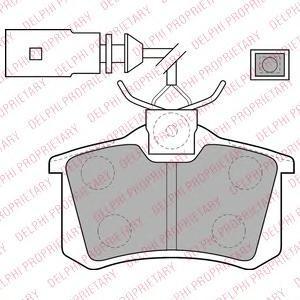 Тормозные колодки LP1556. Delphi