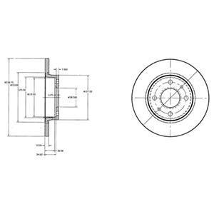 Тормозной диск BG2466. Delphi