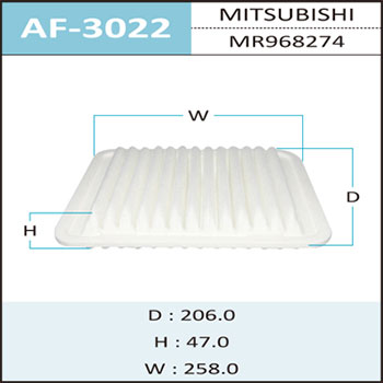 Воздушный фильтр A-3022 HEPAFIX. (AF-3022)