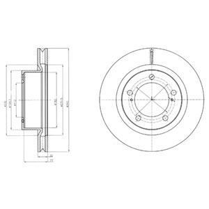 Тормозной диск BG9067. Delphi