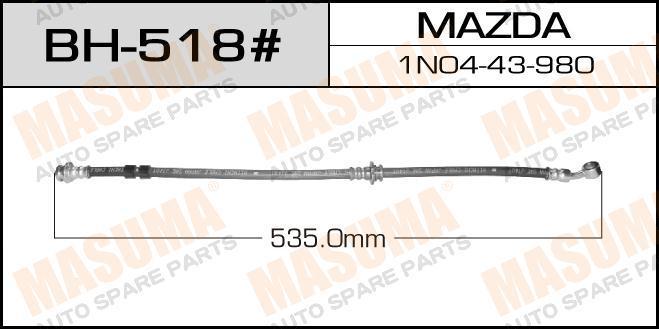 Шланг тормозной  Masuma  Mz- /front/ Familia ##Y10 4WD LH. (bh-518)