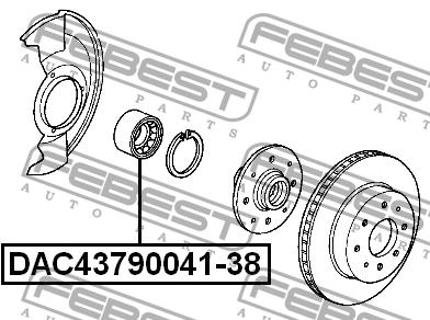 Подшипник ступицы DAC43790041-38. Febest (DAC4379004138)