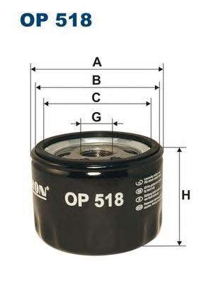 Фильтр масляный OP518. Filtron