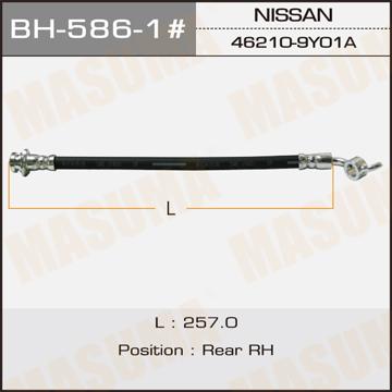 Шланг тормозной MASUMA N- /rear/ TEANA J31 RH. (BH-586-1)