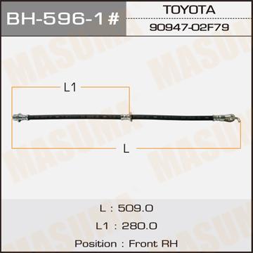 Шланг тормозной MASUMA T- /front/ RX350 GGL15L RH. (BH-596-1)