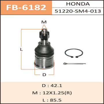 Шаровая опора FIXONE front low ACCORD/ CD3, CD4, CD5. (FB-6182)