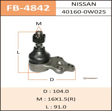 Шаровая опора FIXONE front low R50. (FB-4842)