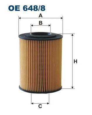 Фильтр масляный OE648/8. Filtron (OE6488)