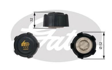 Крышка радиатора RC223 (7410-30065). Gates